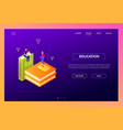 education concept - modern isometric web vector image