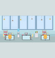 empty office interior cartoon vector image