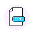 eps file format extension color line icon vector image vector image