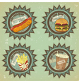 fast food labels vector image vector image