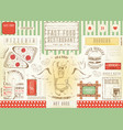fast food restaurant placemat vector image vector image