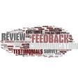 feedback word cloud concept vector image vector image