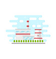 flat nuclear power plant station vector image