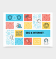 internet infographic template vector image