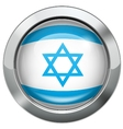 Israel flag metal button vector image vector image