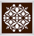 laser cut floral arabesque ornament pattern vector image vector image
