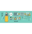 Lecture Concept In Flat Style vector image vector image