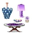 Luxury furniture interior decor of amethyst vector image vector image