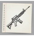 M16 Doodle vector image vector image