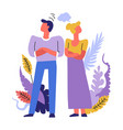 man and woman having problems in married life vector image vector image