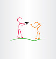 man pointing gun killer icon vector image