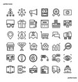 marketing outline icons perfect pixel vector image