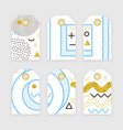 memphis label design vector image vector image
