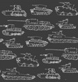 military transport pattern with a tank vector image vector image