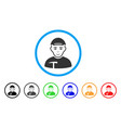 miner rounded icon vector image