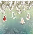 New Years holiday background tree EPS8 vector image