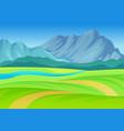 path to river through meadow vector image vector image