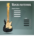 poster for a rock festival vector image