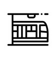 public transport metro thin line sign icon vector image vector image