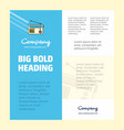 radio business company poster template with place vector image