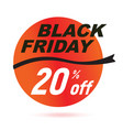 red black friday sale badge vector image