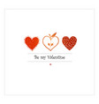 saint valentine s day greeting card with red vector image