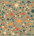 seamless texture with many stylized flowers and vector image