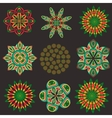 Set isolated of decorative floral elements vector image vector image
