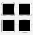 set of retro photo frames with shadows vector image vector image