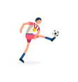 striker footballer symbol soccer icon vector image vector image