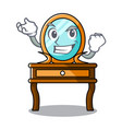 successful dressing table character cartoon vector image