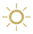 sun icon with glitter effect isolated on white vector image vector image