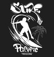 surf graphic t-shirt printing lettering design vector image vector image