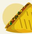taco mexican food vector image