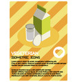 vegeterian color isometric poster vector image