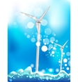 windmill energy vector image vector image