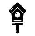 wooden birdhouse icon simple style vector image vector image