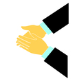 Clapping hands logo vector image