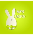 Easter bunny with a bow greeting card vector image