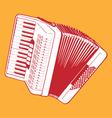retro accordion vector image