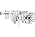 about voip vector image vector image