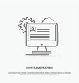account profile report edit update icon line gray vector image