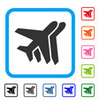 airlines framed icon vector image vector image
