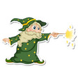 an old wizard cartoon character sticker vector image