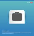bag icon - blue sticker button vector image