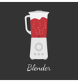 Blender in flat design vector image