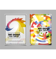 Book Cover Layout Design Abstract Art Cover Layout vector image