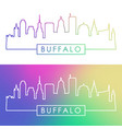 buffalo skyline colorful linear style editable vector image vector image