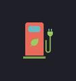 car charging station computer symbol vector image vector image