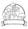Cartoon turkey vector image vector image
